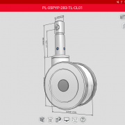 Colson Group USA Caster CAD 3D Android Screenshot MedCaster PreVail Series