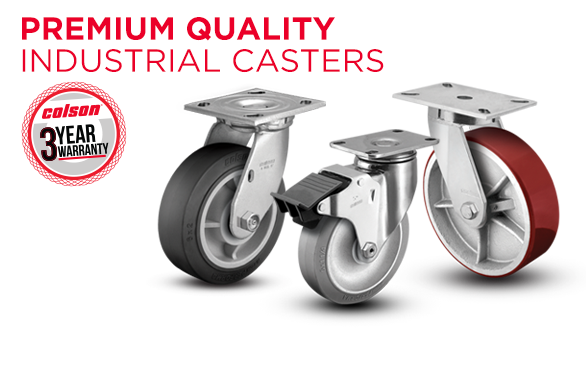 Colson Premium Quality Industrial Casters with 3-Year Warranty